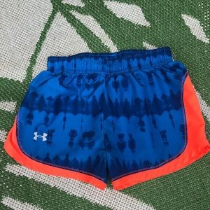 Girls 4T under armour athletic shorts blue tie dye